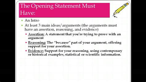 exles themes for opening statements how to write an opening and closing statement youtube