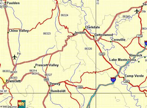 map of prescott az pin prescott arizona maps az on