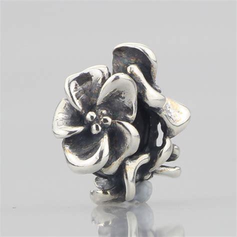 Flower Earring Stopper Belakang Anting solid 925 sterling silver flowers spacer stopper charm fit european original troll