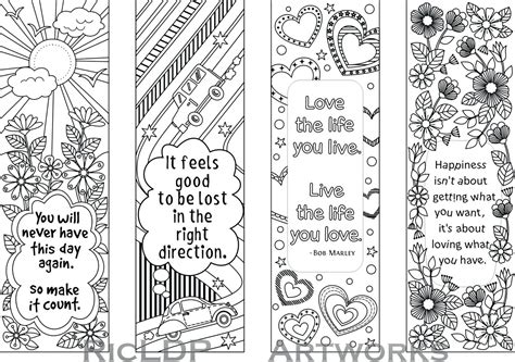 Colouring Pages Bookmarks