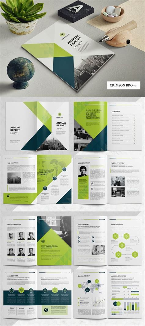 annual report template indd brochure templates