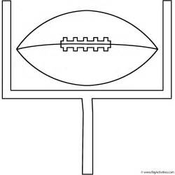 football with goal post coloring page father s day