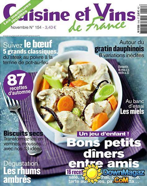 magazine cuisine et vins cuisine et vins de novembre 2013 no 154
