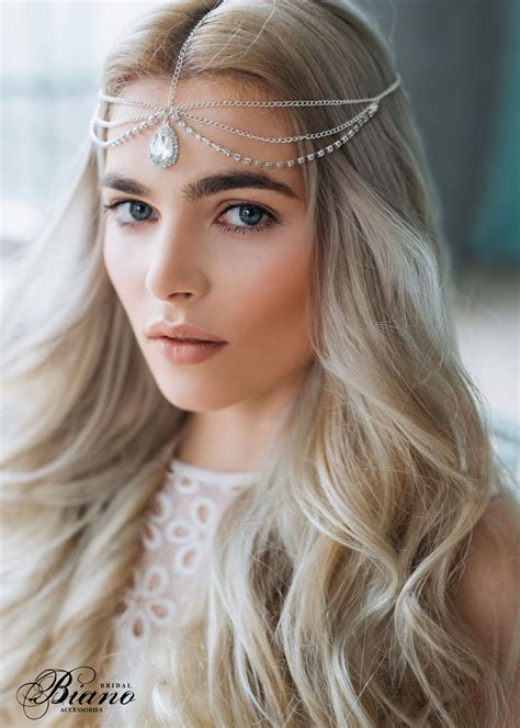 hairstyles with hair jewelry wedding chain headpiece bridal hair jewelry chain head