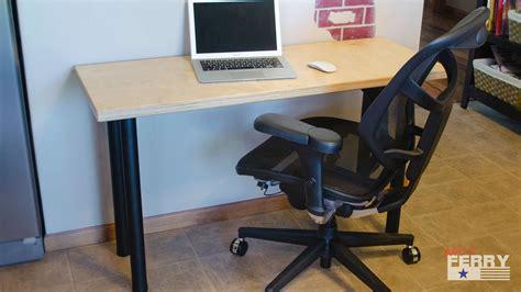 easy to assemble desk 187 diy office desk w baltic birch top ep72