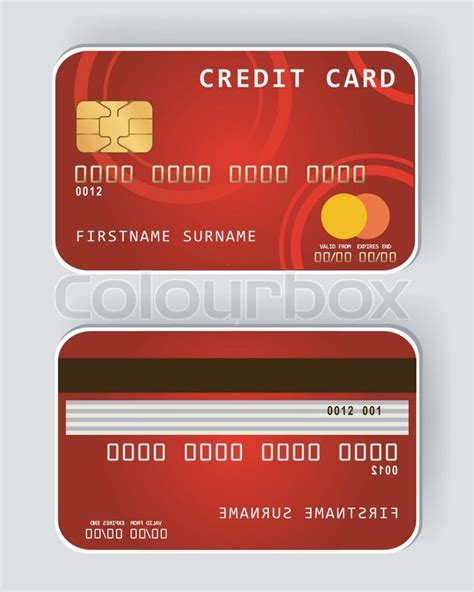 Credit Card Template Back Credit Card Banking Concept Front And Back View