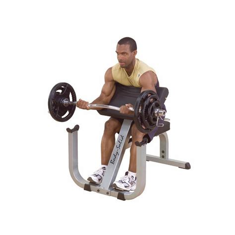 bench bicep curls body solid gpcb329 preacher curl bench