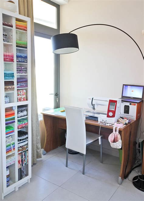 parson tower desk for my sewing room craft show ideas not only quilts my sewing room ikea hack benno dvd