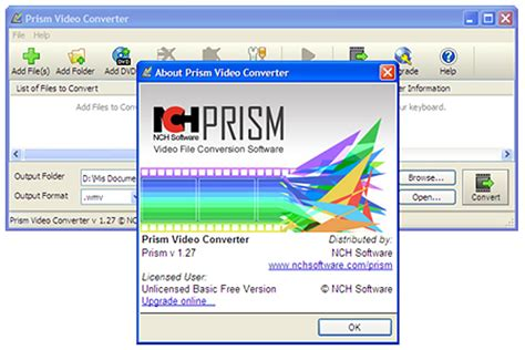 nch software video converter prism video converter