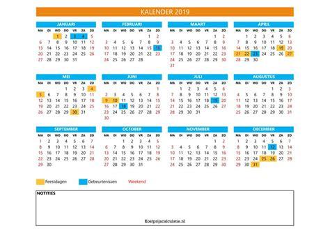 gratis kalender  excel  ontwerpen voor jaar maand week en dag