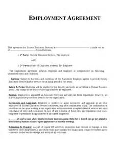 Employment Agreements Template templates agreements employment contract employment agreement template