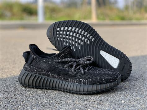 Adidas Yeezy 350 V2 Static Black by Adidas Yeezy Boost 350 V2 Static Black For Sale The Sole Line