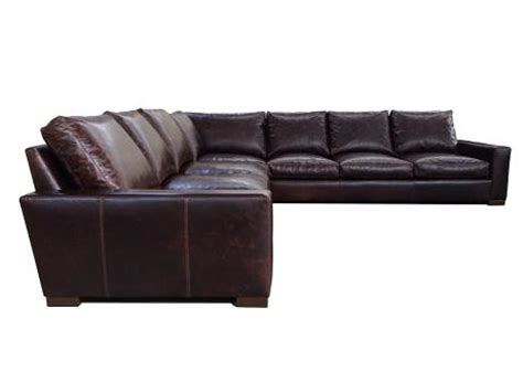 braxton leather quot grand corner quot sectional sofa leather