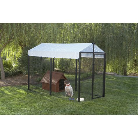dog house kits lowes shop 5 w x 10 l x 6 h imperial kennel kit at lowes com