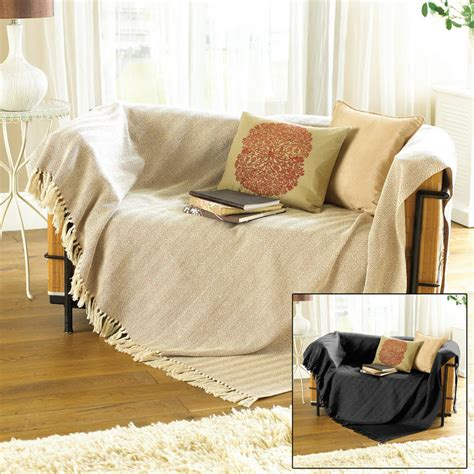Blanket For Sofa by 100 Cotton Traditional Como Blanket Home Sofa Bed Throw