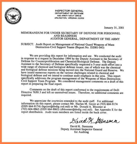Dod Memorandum Template 8 department of defense letterhead template company