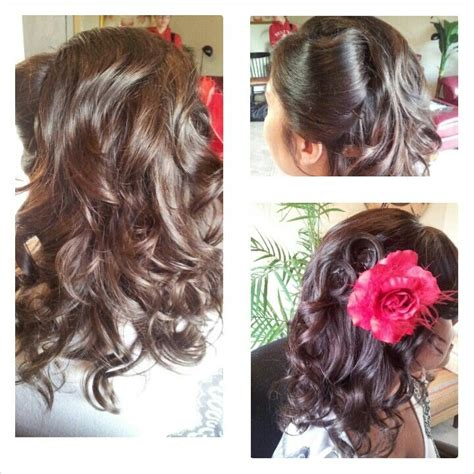 rolling up your hair in curls in preparation for an updo 17 best images about makeup and hair by me on pinterest