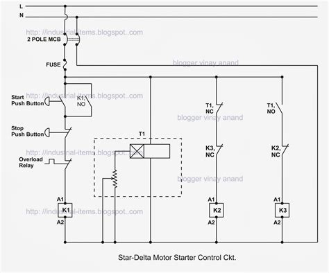 fully automatic delta starter circuit diagram pdf