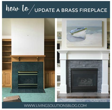 How To Update A Fireplace by How To Update A Brass Fireplace Living Solutions