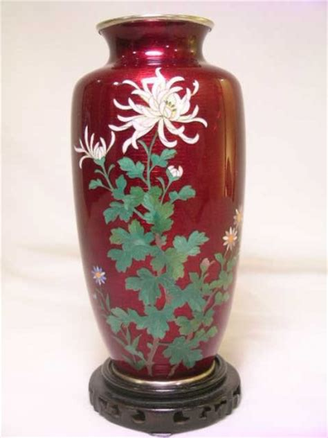 Japanese Cloisonne Vase Value by 69 Silver Wire Japanese Cloisonne Vase 1306889