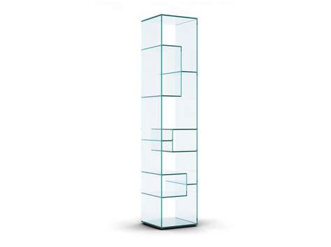 libreria autoportante libreria a giorno autoportante bifacciale in cristallo