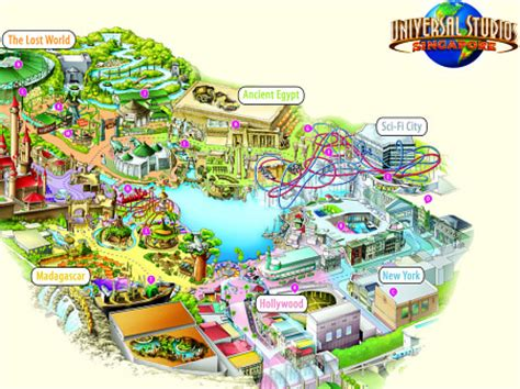 first look at the theme park map for universal studios
