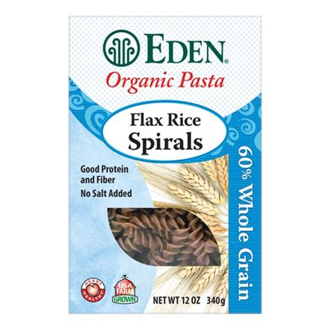 omega 3 in whole grains foods flax rice spirals organic 60 whole grain