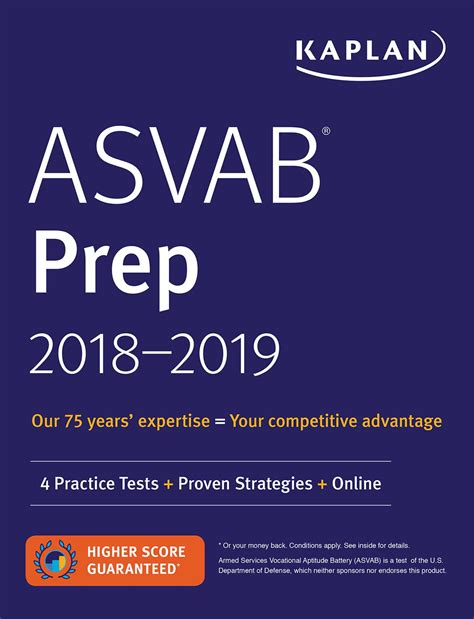 asvab study guide 2018 2019 test prep practice test questions for the armed services vocational aptitude battery books asvab prep 2018 2019 book by kaplan test prep official