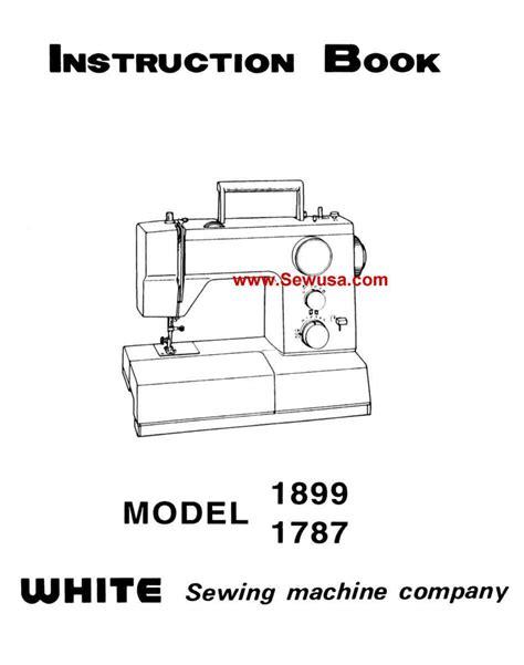 White 1787 1899 Instruction Manual