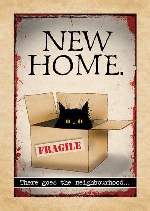 new home or moving day cat card