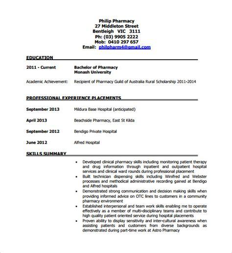 Pharmacy Technician Resume by 9 Sle Pharmacy Technician Resumes To Sle