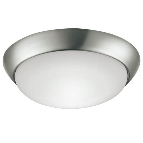 shop project source 13 in w brushed nickel led ceiling flush mount light at lowes shop project source 13 in w brushed nickel led flush mount light energy at lowes