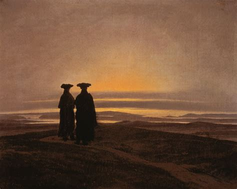 sunset brothers caspar david friedrich  art print