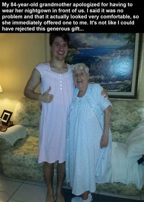 grandma  grandson  night gown pictures