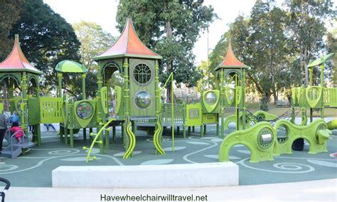 Botanic Garden Playground All Abilities Playground Brisbane Botanic Gardens Wheelchair Will Travel