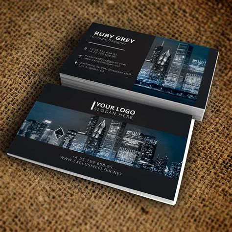 simple black white business card premium business card