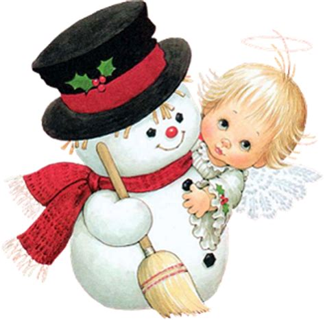 imagenes nieve vintage angel and snowman png picture by joeatta78 on deviantart