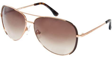 Gucci G075 Brown Rosegold michael kors brown gold aviator sunglasses in brown