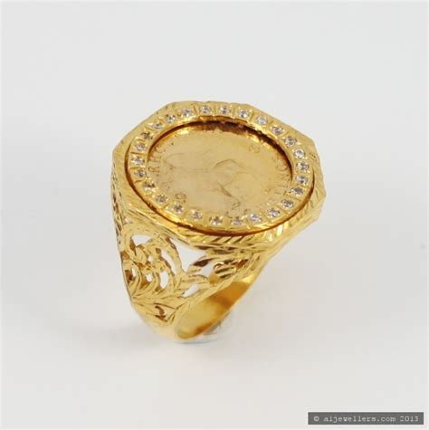 22ct indian gold shilings coin ring 163 723 79 rings