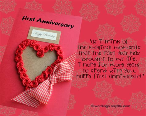 Wedding Anniversary Cards And Messages by 1st Wedding Anniversary Messages Wordings And Messages