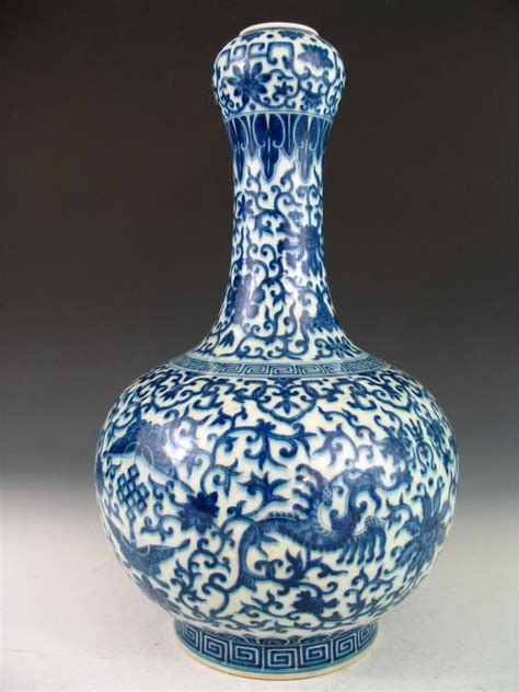 blue and white chinese porcelain gicl 233 e prints set of 6 chinese blue and white porcelain vase qianlong mark