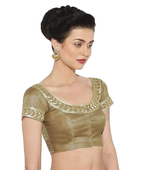 Embroidery Sabrina Blouse 5 buy gold silk embroidery stitched blouse
