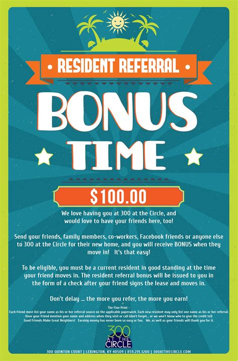 500 Resident Referral Flyers Pinterest Referral Program Flyer Template