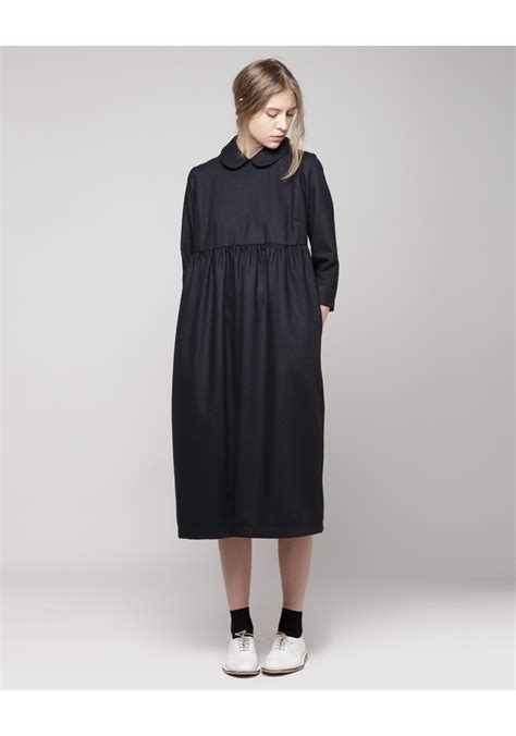 Collar Dress Midi Black Greybaju Blouse Wanita comey compass dress i don t care ux ui designer and amish