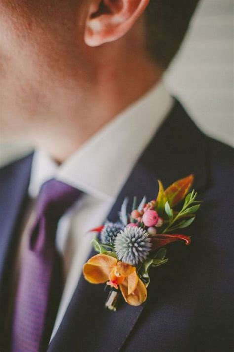50 Fall Wedding Boutonnieres for Every Groom ? Hi Miss Puff