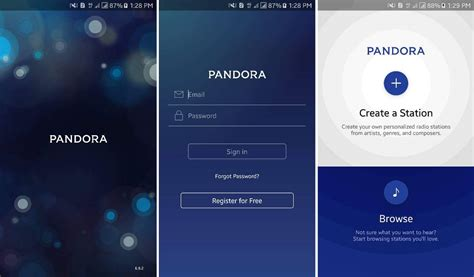 pandora app android pandora radio app for android v6 9 2 apk 2018