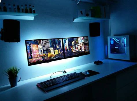 gaming desk setup ideas best 25 computer setup ideas on l desk gaming