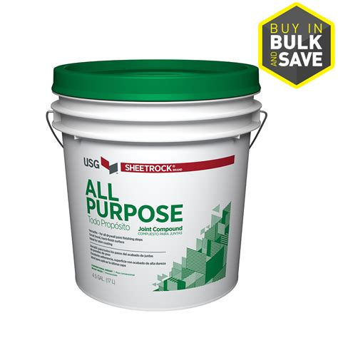 Bathroom Drywall Joint Compound Shop Sheetrock Brand 4 5 Gallon Premixed All Purpose