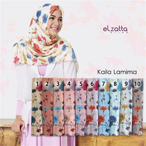 Zoya Kerudung Segi Empat Motif Cantik Farah Scarf segi empat motif floral elzatta kaila lamima ilbabmodel