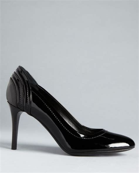 burberry high heels burberry high heel pumps smoked check praver in black lyst